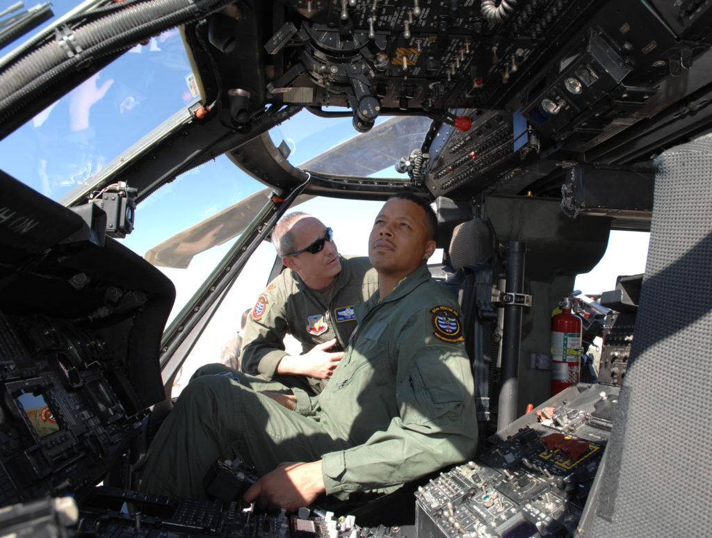 Terrence Howard HH-60G Nellis AFB